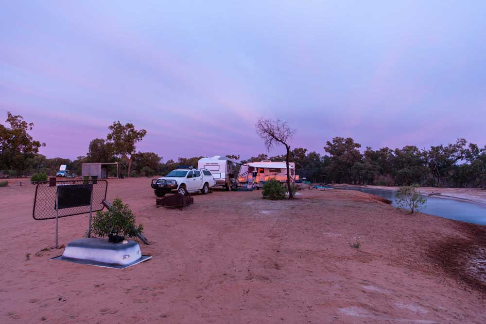 camp site in Cunnamulla