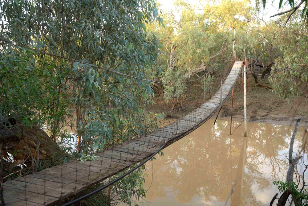 foot bridge over water