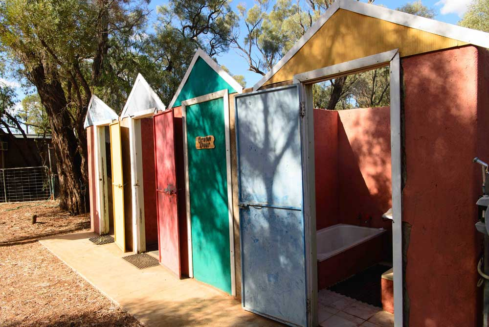 yowah artesian bore coloured huts