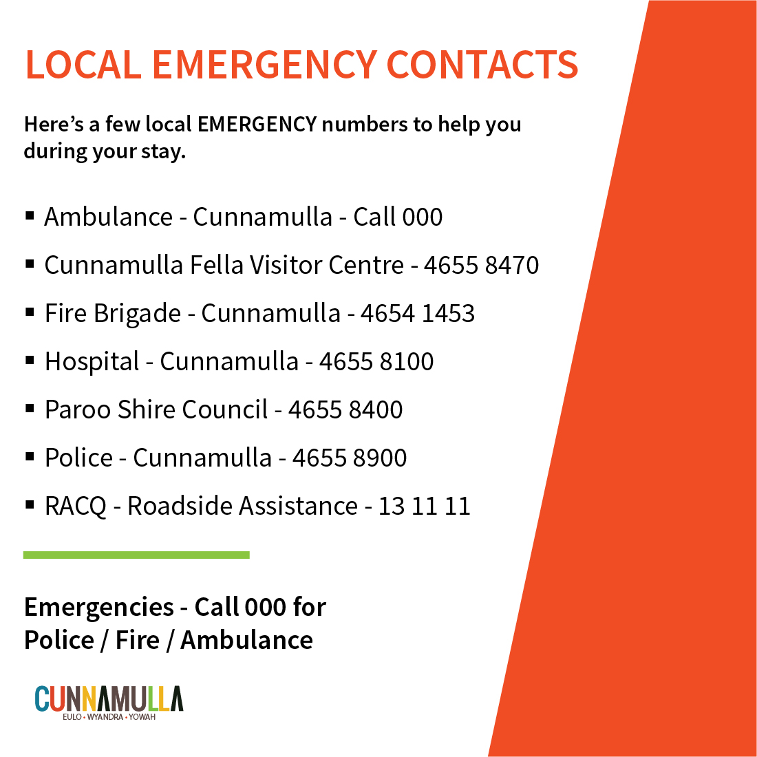 local emergency contacts