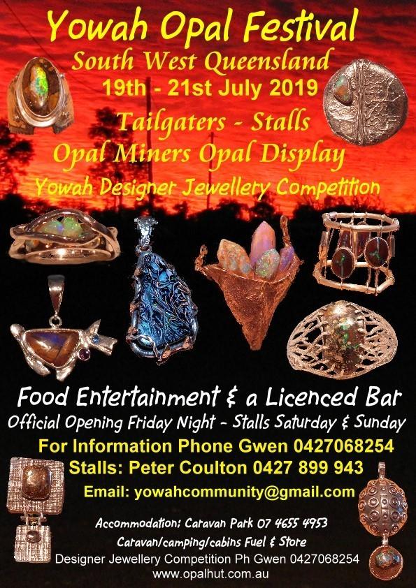 Yowah Opal Festival poster